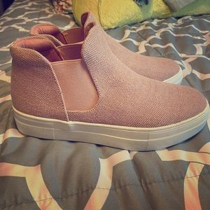 Mauve Soda High-top slide on sneakers